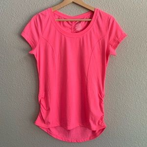 Athletic Works Ruched High Low T-shirt